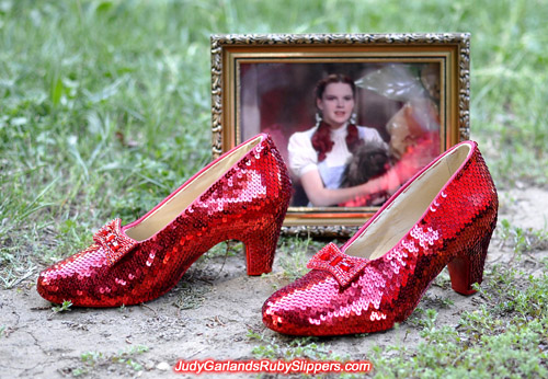 The ruby slippers accompanied by the Minnesotan beauty