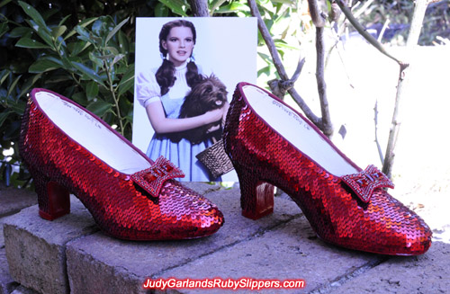 The ruby slippers created by one of the world's top ruby slipper makers
