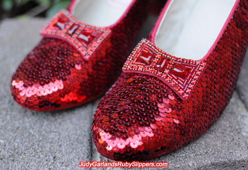 The ruby slippers is as beautiful as Judy Garland