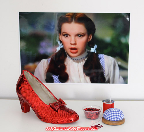 There's always a wow factor in every ruby slippers we make