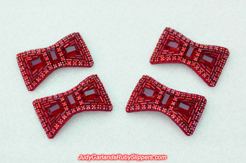 Two beautiful pairs of ruby slipper bows