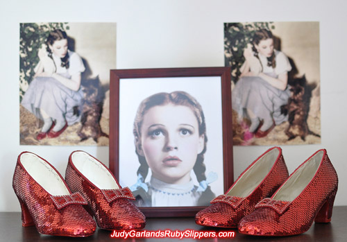 Two pairs of high quality ruby slippers