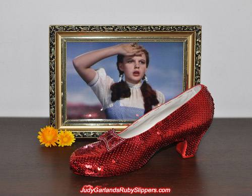 We are hard at work with Judy Garland's ruby slippers