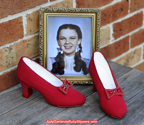 We are set to begin sequining Judy Garland's ruby slippers
