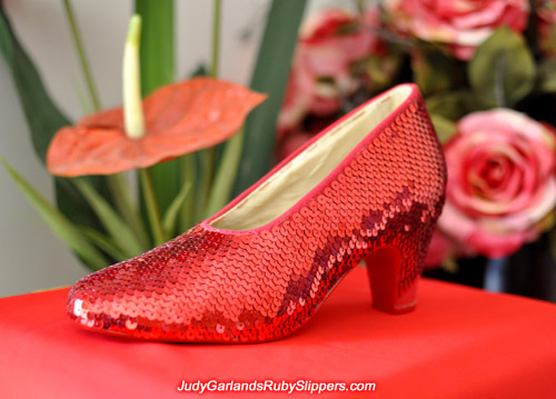 We are within days of finishing Judy Garland's ruby slippers