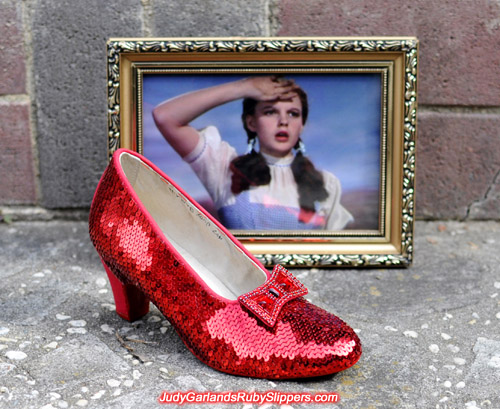 Work in progress with Judy Garland's ruby slippers