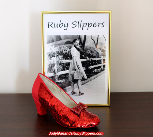 Work in progress with Judy Garland's size 5B ruby slippers