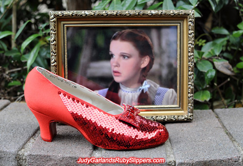 Work is underway with Judy Garland's ruby slippers