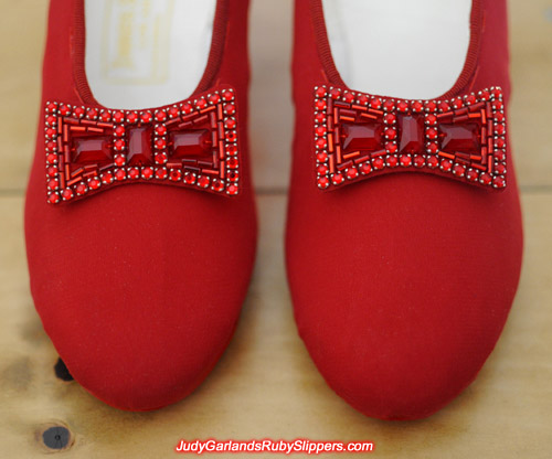 World class bows for Judy Garland's ruby slippers