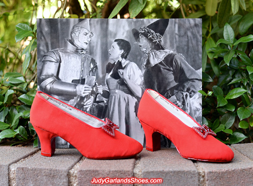 1930's style base shoes handcrafted in Judy Garland's size 5B