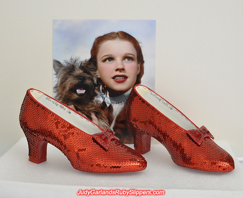 April project with Judy Garland's ruby slippers is finished