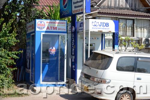 ATMs are available in Vientiane and are expected to expand