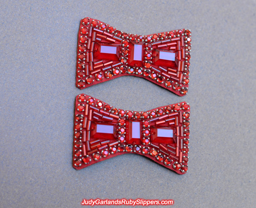 Beautiful and neat pair of ruby slipper bows