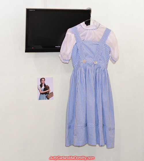 Before Judy Garland as Dorothy's dress