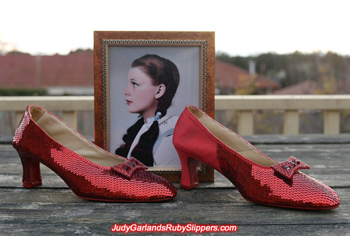 Big pair of ruby slippers is taking shape