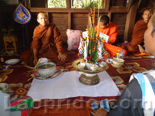 Buddhist ceremony in Champassak