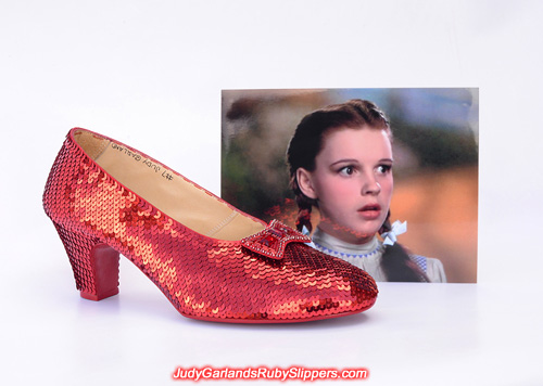Crafting a pair of size 8 ruby slippers reach the halfway mark