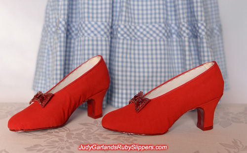 Custom-made shoes in Judy Garland's size 5B