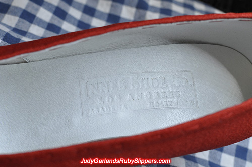 Custom-made size 5B shoes with heat embossing labels