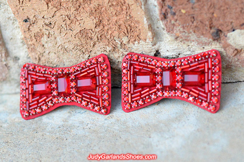 Expertly crafted hand-sewn ruby slipper bows