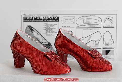 Exquisite pair of ruby slippers crafted in August, 2017