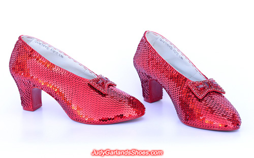Extraordinary pair of ruby slippers