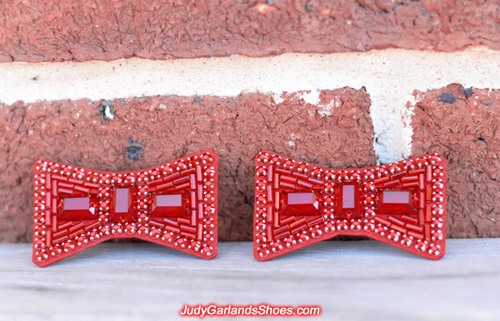 Hand-sewn ruby slipper bows made in October, 2017