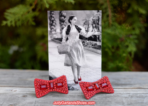 Hand-sewn ruby slipper bows made to perfection