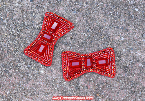 Hand-sewn ruby slipper bows
