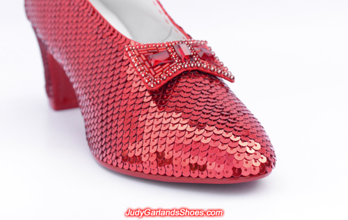 Hand-sewn ruby slippers crafted in November, 2017