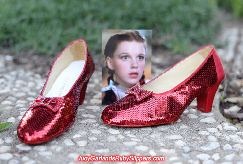 Hand-sewn US women's size 8 ruby slippers