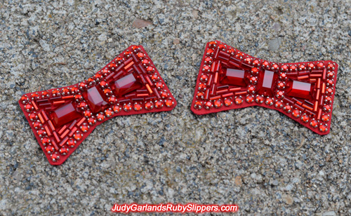 High quality, hand-sewn ruby slipper bows
