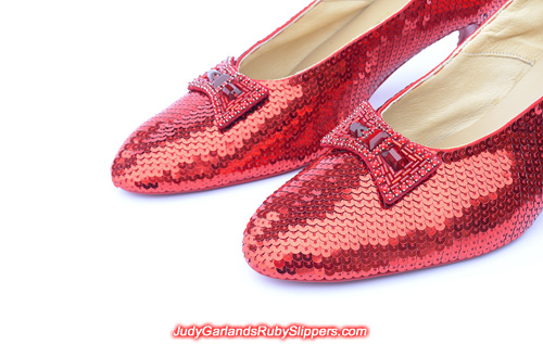 High quality ruby slippers crafted in size 10
