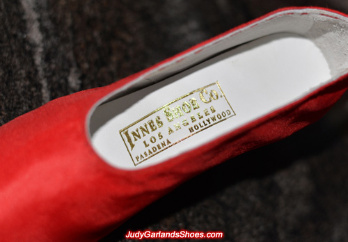 Innes Shoe Co. heat embossed golden label