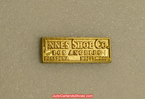 Innes Shoe Co. in Hollywood gold stamp block