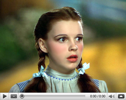 Judy Garland as Dorothy in The Wizard of Oz Video