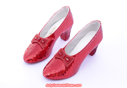 Judy Garland's reproduction ruby slippers in size 5B