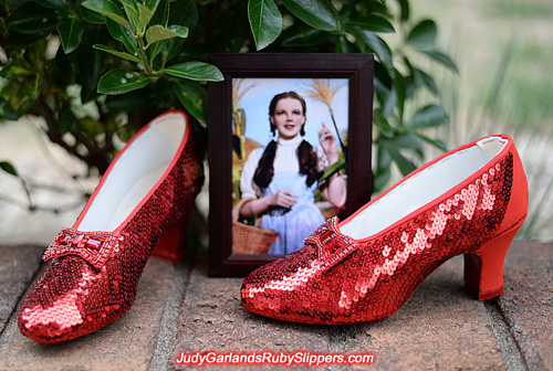 Judy Garland's ruby slippers creation reaches home stretch