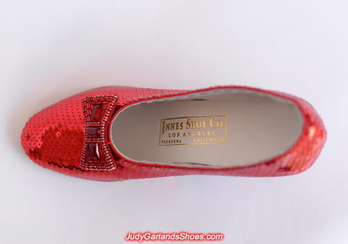 Judy Garland's ruby slippers is finished
