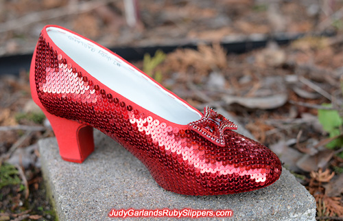 Judy Garland's ruby slippers is taking shape