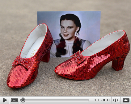 Judy Garlands Ruby Slippers Video