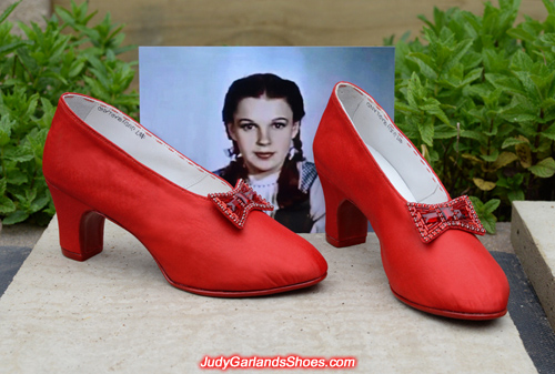 Judy Garland's size 5B base shoes made from scratch