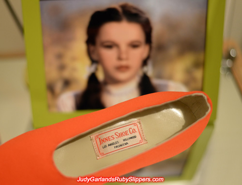Judy Garland's size 5B custom-made shoes