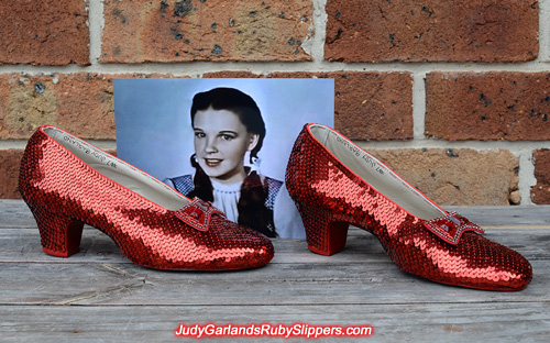 June project with Judy Garland's ruby slippers is finished