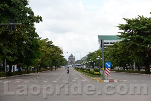 Lane Xang Avenue in Vientiane, Laos