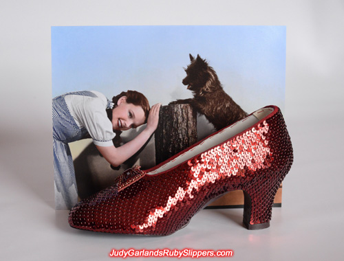 Limited edition burgundy ruby slippers right shoe