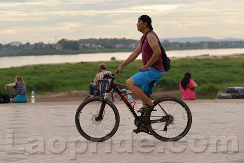 Mekong riverside in Vientiane, Laos