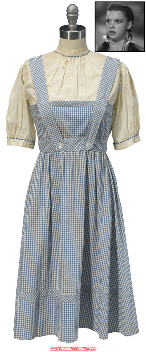 Original dress worn by Judy Garland as Dorothy