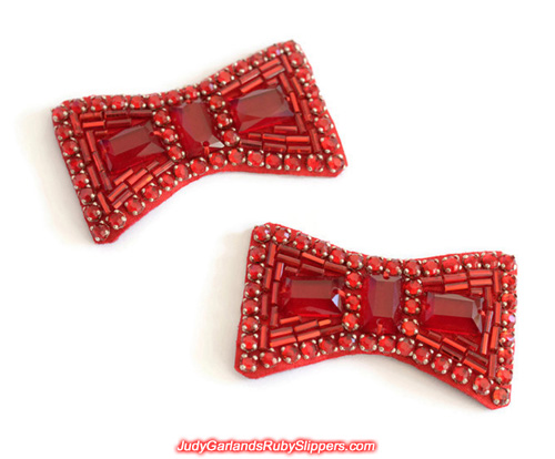Pair of ruby slipper bows for our upcoming project