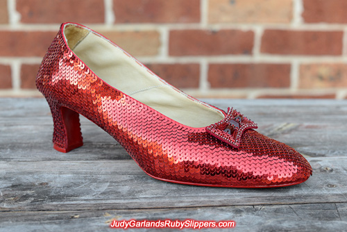 Project is at the halfway mark with size 10 ruby slippers